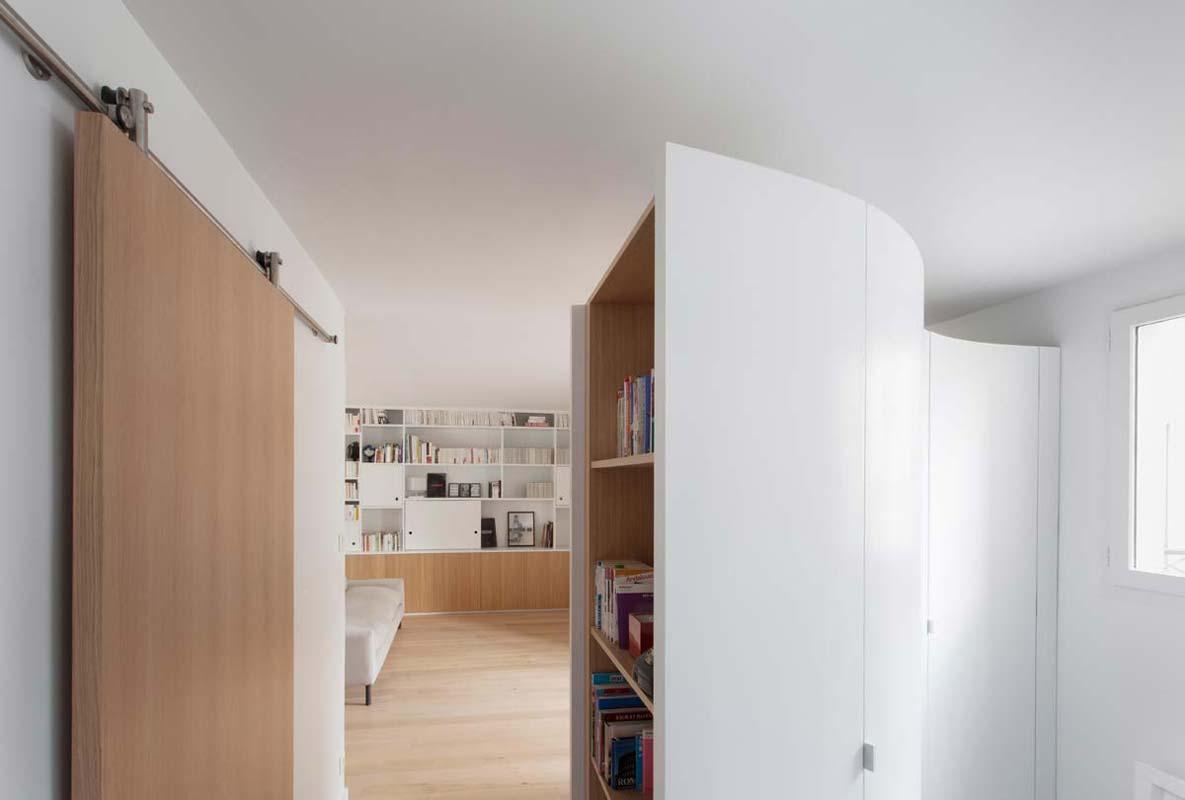 biblioth que sur mesure et meubles de rangement en bois l 39 atelier du menuisier. Black Bedroom Furniture Sets. Home Design Ideas